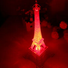 3D Eiffel Tower Bedroom Night Color Changing LED Desk Table Night Light Lamp