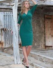 3/4 Sleeve Tea Dresses' Midi