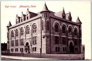"1910s Memphis, Tennessee Postcard ""High School Building View Wheelock Unused"