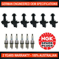 6x Genuine NGK Platinum Spark Plugs & 6x Ignition Coil for Nissan StageA Skyline