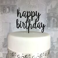 Happy Birthday acrylic cake topper age celebration 19 COLOURS