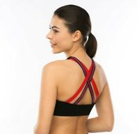 Padded CrossBack High Impact Seamless Sports Bra ActiveWear -Yoga /Gym - Workout