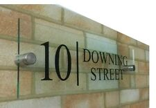 PREMIUM MODERN Glass effect acrylic House number door sign plaque