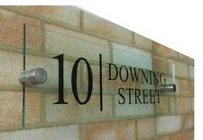 PREMIUM MODERN Glass effect acrylic House number door sign plaque