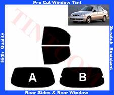 Pre Cut Window Tint Daewoo Lanos 4D 1997-2003 Rear Window & Rear Sides Any Shade
