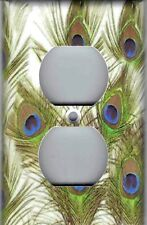 PEACOCK FEATHERS HOME WALL DECOR OUTLET COVER