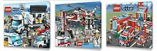 Lego City Kids canvas wall art plaque pictures set of three pack 1