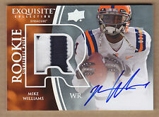 10 2010 Exquisite GOLD Rainbow Mike Williams 2C Jersey Patch Auto RC #'d /10