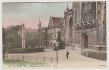 Gloucestershire postcard - Gloucester - Deanery and West Front - LL No. 6 (A188)