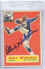 Alex Webster 1956 Topps #5 Autographed Football Card New York Giants DECEASED