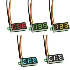 0.28 3 Draht Dc Voltmeter 3 Digital Led-Anzeige Spannung Panel Meter Rot