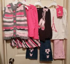 Gymboree Glamour Ballerina Girl 8PC Winter Lot Skirt Jeans Pants Vest Set 4T 4