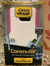 OTTERBOX COMMUTER CASE FOR SAMSUNG GALAXY S6 - White W/ Pink Accents