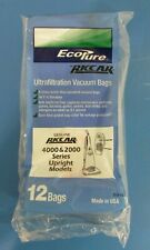 10 Genuine Riccar EcoPure Ultrafiltration Vacuum Bags 4000 & 2000 Series Upright