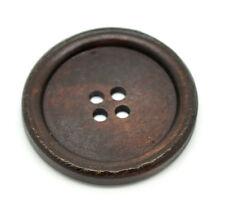 5 Botones de Madera Marrón Oscuro 40mm (4cm) Ideal Para Coser Manualidades Arte Álbum de recortes