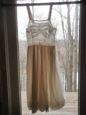 "Vtg Nightgown White Bridal Innocent yet Seductive 32"" bust Anne Maid Small    Qt"