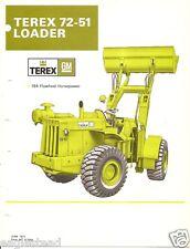 Equipment Brochure - Terex - 72-51 - Wheel Loader - 1971 (E1937)