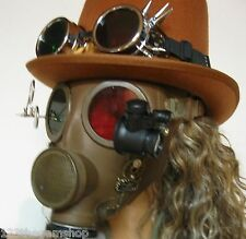 Steampunk Style Gas Mask M51 altered 1950s Green/Red lenses 3D Type By Artist #3
