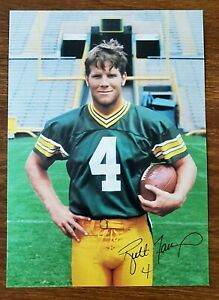 1998  Brett Favre  Green Bay Packer  Team Roster  Profile  Photo  with Signature
