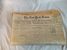 NEW YORK TIMES OCT 26 1943-RUSSIANS CAPTURE DNIEPROPETROVSK-DUROCHER RE-SIGNS