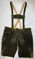 "Lederhosen Gustl Quality Goat Leather with suspenders EU58 measures 38""waist"