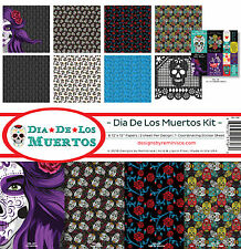 Reminisce DIA DE LOS MUERTOS Scrapbook Kit (8) 12x12 Papers (1) Sticker Sheet
