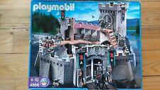 playmobil  réf 4866 chateau-fort des chevaliers du faucon complet à 99 % + boîte