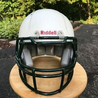 RIDDELL Youth Football Helmet Small White / Green Recertified in 2019