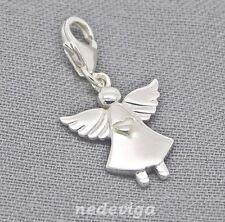 925 Sterling Silber Charm Armband Anhänger Glück Schutzengel Engel Talisman Etui