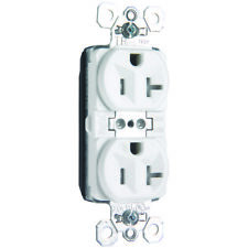 Pass & Seymour PTTR5362-W Plug Tail Duplex Receptacle 20A 125V White New in Box