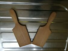 Pair Of Vintage Wooden Butter Pats - Of Scottish Origin