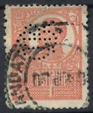 Romania 1908-1919, 50b Perfin Used #D5968