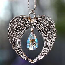 Angel Wings + Chain m/w Swarovski Crystal RARE KITE Pendant Car Charm SunCatcher