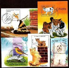 ZY498 TOUS PAYS  5 BLOCS :animaux domestiques,nos amis  les chiens,chats,oiseaux