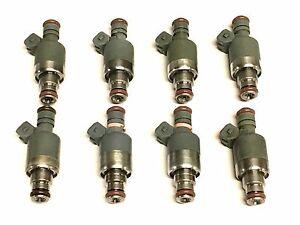 SET OF 8 ROCHESTER FUEL INJECTORS 17102728 1990 CADILLAC 4.5L V8