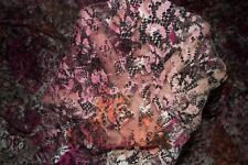 Pink Floral Stretch Lace #59 Nylon Lycra Spandex Apparel Fabric BTY