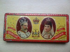 King Edward VII & Queen Alexandra Coronation Rowntree Tin Sheffield Coat of Arms