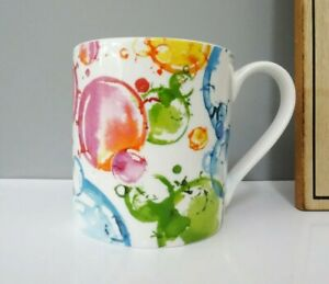 Bone China Coloured Water Bubbles Chintz Mug Hand Decorated In Wales Gift