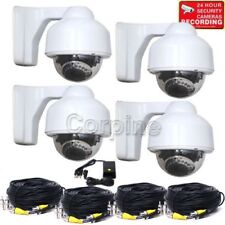 4 Security Camera 700TVL Outdoor IR Night 3.5-8mm Varifocal Lens Cable Power MFL