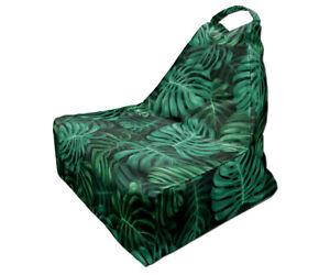 Bean Bag Chair, Tropical Leaves Print, Unique Design 4, Full Print, Made in EU