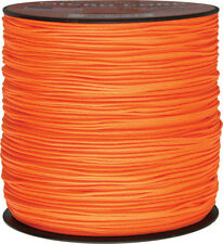 Parachute Cord Micro Cord Neon Orange 1.18mm x 1,000 ft. Braided premium nylon s