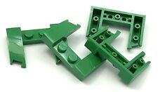 Lego 4 New Green Wedges 3 x 4 x 2/3 Cutout Pieces
