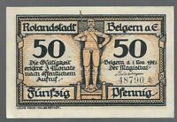 Notgeld - Belgern a. Elbe - Stadt Belgern - 50 Pfennig - 1921