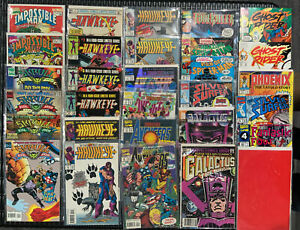 Avengers Galactus Origin Spider-man Ghost Rider Hawkeye Lot marvel comics VF/NM