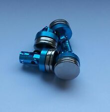 1/10 RC car magnetic body shell mount x4 blue alloy