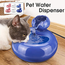 Pet Cat Dog Automatic Water Fountain Dispenser Drinking Bowl Bottle  L/S Size
