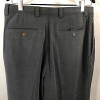 "Tommy Bahama Mens Size 34X36"" Gray Silk Pants Slacks  Pleated"