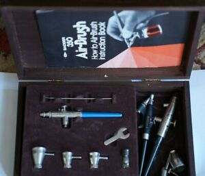 BADGER CRESCENDO 175T AIRBRUSH; #100 & #350 Single Action Fine Head Airbrush