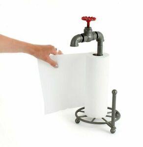 Retro Vintage Water Tap Kitchen Roll Holder Toilet Roll Holder Novelty Storage
