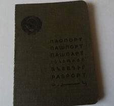 1935 Reisepass Pass Passport Ausweis UdSSR Sowjetunion Russland паспорт СССР